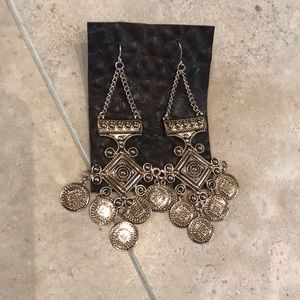 Bronze Chandelier Pierced Earrings